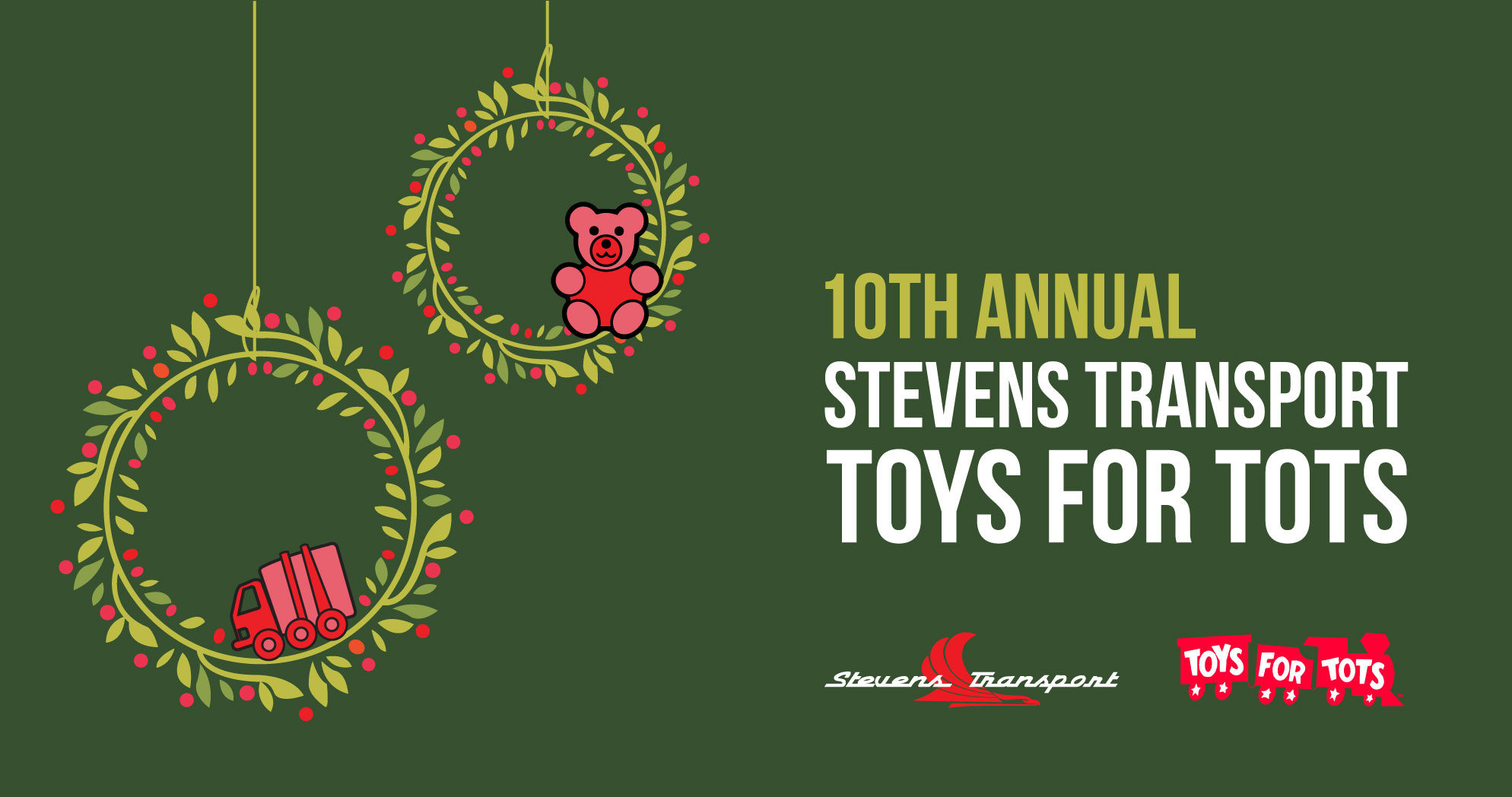 Toys For Tots Drive : Stevens transport kicks off th annual toys for tots drive