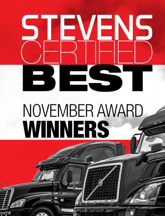 Stevens Certified Best November Award Winners